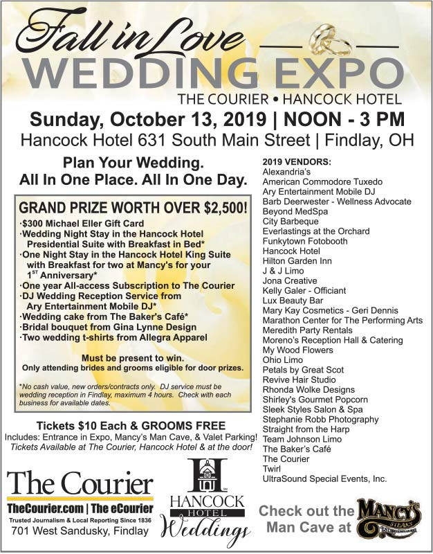 'Fall in Love' Wedding Expo Sunday, Oct. 13th downtown findlay!